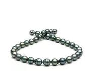 tahitianische barockperlen großhandel-10-12mm Tahitian Pfau grün barocke Perlenkette 18 Zoll 14 Karat Gold Verschluss