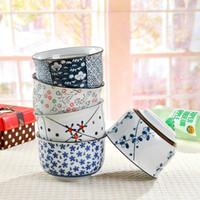 ingrosso ciotole di zuppe giapponesi-Zuppiera in ceramica dipinta a mano Zuppa di riso in stile giapponese Ciotola in terracotta smaltata in porcellana