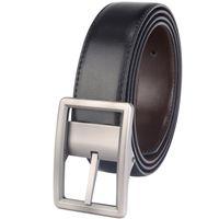 jeans de hombre 28 32 al por mayor-Cinturón de cuero reversible para hombre Vaqueros con hebilla de punta giratoria Dos en uno Cinturones Negro / Marrón Tamaño 28-54 Pulgadas Cinto Cinto Cinto Hombres Diseñador