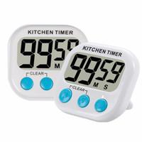 Wholesale alarm number - Digital kitchen timer, Cooking timer, Big number,Loud alarm, Magnetic bracket, White (Excluding battery)