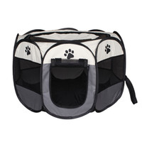 Wholesale dog block for sale - Group buy Waterproof Scratch Resistance Pet Cage Foldable Washable Eight Horn Dog Barrier Enclosure Waterproof Block Wind Fence Easy To Clean hz2 Y