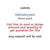 applique eisen kleidung großhandel-Hochwertige Custom Patch DIY alle Arten von Eisen auf gewebten Abzeichen für Kleidung gestickte niedliche Patches Applique