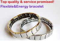 Wholesale Energy Magnetic Titanium Germanium Bracelet - hot selling New arrival 100pcs Energy bracelet Titanium, Nano Energy Magnetic Germanium Titanium Bracelet Pain Relief Powerfull!