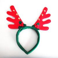 5ddbfd1d6ba01 Wholesale santa reindeer antlers online - Christmas decoration hairband  party supplies Reindeer Antler Santa Hat Christmas
