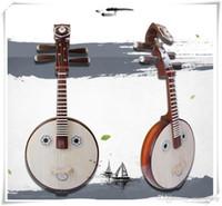 material chinesisch großhandel-Chinesische traditionelle Musikinstrumente Ruan Moon Guitars Platane Wood Musikinstrument für Anfänger Material