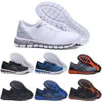 Wholesale shoe gel online - ASIC Gel Quantum SHIFT Stability Running Shoes T728N black white athletic outdoor Sports Jogging shoes trainer speed women sneakers