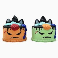 Wholesale blue unicorn toy for sale - Group buy 4 Styles Kawaii PU Unicorn Simulation Pumpkin Ice Cream Jumbo Squishy Slow Rising Halloween Squeeze Toys Decompression Toy CCA10408