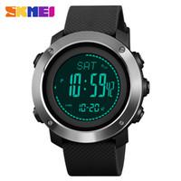 relogios relógios digitais venda por atacado-Bússola Men Digital Sport Calorias Relógios Termômetro Previsão do tempo LED Relógio de Luxo Pedômetro Compass Mileage Metronome