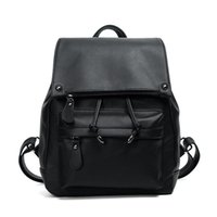 Wholesale extra packs online - New Fashion Leather Backpack Retro Girls Shoulder Bag Female PU Leather Simple Students Candy Fruit Backpacks High Quality Women Back Pack