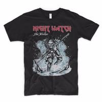erkek kısa kollu gömlek resmi toptan satış-Resmi Gömlek Baskı Gece Izle T Shirt Oyun Thrones Walker Zombi Jon Kar Kargalar Önce Hoes Ekip Boyun Kısa Kollu Erkek Tee