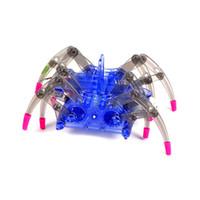 armar kits de juguete al por mayor-Los niños Araña Eléctrica Robot de Juguete DIY Inteligencia Educativa Conjuntos de Desarrollo de Niños Rompecabezas Juguetes de Acción Kits C5451