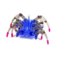 kit takımları toplayın toptan satış-Çocuklar Elektrikli Örümcek Robot Oyuncak DIY Eğitim İstihbarat Geliştirme Araya Çocuk Bulmaca Eylem Oyuncaklar Kitleri C5451