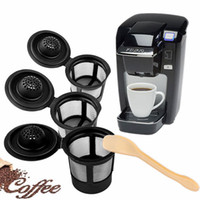 Wholesale wholesale k cup - 3pcs set Reusable Refillable Coffee Filter Basket K-Cups for Keurig 1.0 Stainless Steel Mesh Compatible Pod System NNA376