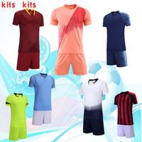 logotipos de clubes de futebol venda por atacado-18-19 roupas de futebol de clubes, roupas de criança, roupas de mangas curtas, processamento de nomes e números e LOGO.