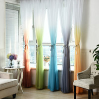 fenêtres achat en gros de-Tulle Rideaux 3d Imprimé Décorations De Cuisine Traitements De Fenêtres Américain Salon Diviseur Sheer Voile Rideau Simple Panneau