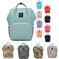ingrosso borse per il pannolino-Borse per pannolini Mommy Backpack Pannolini Backpack Moda Madre Maternity Zaini per esterni Desinger Nursing Borse da viaggio Organizzatore OOA2184