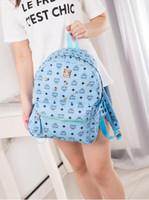 Wholesale leather knapsack women - 2018 Hot sell Fashionable rivets backpack schoolbag casual handbag Shoulder bag Student girl Satchel bag Field travel knapsack