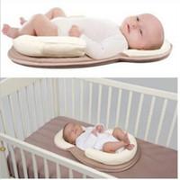 almofadas cabeça plana venda por atacado-Posicionador do bebê Travesseiro Evitar Cabeça Plana Almofada Do Sono Cabeça Infantil proteção Shaping Almofadas Anti Rolo Cozy Sleep 0-12 Meses