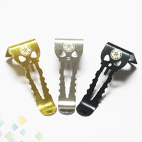 Wholesale hook material - Authentic Vape Belt Clips Alienwalker for All Vaporizer Devices Stainless steel Material Hook 3 Colors Fit Box Mod Ecig DHL Free