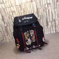 broderie à dos achat en gros de-Tiger Embroidery Techpack avec broderie luxe sac de voyage de concepteur homme sac à dos sacs à bandoulière livre sac