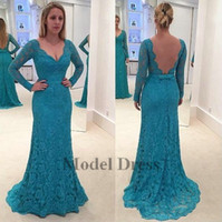 23b41b82cf0 Wholesale petite formal dresses mother bride online - Vintage Long Sleeves  Evening Dresses Lace Mermaid Sheer