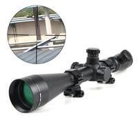 ingrosso ambiti ottici-Cannocchiale da caccia LEUPOLD 6-24x50 M1 Ottica Cannocchiale rosso e verde Dot Fibra ottica Mirino tattico 11mm / 20mm Rail Riflescope