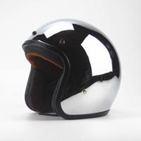 Wholesale chopper helmets online - New Vintage Retro Motorcycle Helmet Silver Plating Open Face Helmet Cruiser Touring Chopper Biker Casco Moto DOT