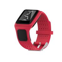 relógio gps de qualidade venda por atacado-Qualidade Assista Strap! Preço de fábrica! A mais nova faixa suave de silicagel de substituição para TomTom Multi Sport / Cardio GPS Watch