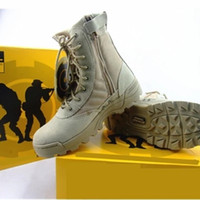 Wholesale american leather boots - NEW Delta Tactical Boots Military Desert SWAT American Combat Boots Outdoor Shoes Breathable Wearable Boots Hiking EUR size 36-46
