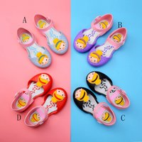 Wholesale summer jelly shoes online - Melissa Children Sandals jelly Mermaid princess shoes summer PVC Soft bottom girls summer shoes colors C3776