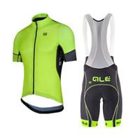 Wholesale mens cycling pants pads - summer cycling jersey sets mens pro team cycling clothing short sleeve mtb jersey set kits cycling bib shorts pants 9d pad