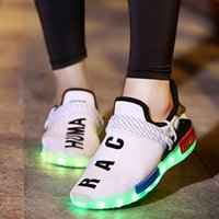 Wholesale led sneakers - Authentic air Coconut shoe LED charging Luminous Light quality New Men Women children Hot sports sneaker Boost breathable 30~46EUR 171221001