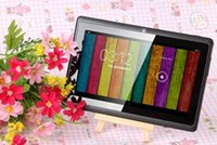 tablette taschenlampe kamera großhandel-Q8 7 Zoll Tablet PC A33 Quad Core Allwinner Android 4.4 KitKat Kapazitiv 1,5 GHz 512 MB RAM 4 GB ROM WIFI Dual Kamera Taschenlampe Q88 A150