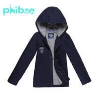 ingrosso giacca morbida del bambino-Phibee Boys Autunno Primavera Baby Jacket Giacca a vento con cappuccio Soft Shell Casual Abbigliamento per bambini