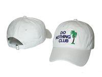 Wholesale palms sun - fashion embroidery DO NOTHING CLUB dad hat palm tree k pop baseball cap women men hip hop summer sun hat bone