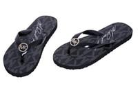 breite schuhe großhandel-Gummi mkBrand Männer und Frauen Sandalen Designer Schuhe Luxus Slide Sommermode breiten flachen rutschigen Sandalen Slipper Flip Flop große Größe 35-41