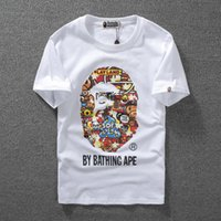 Wholesale monkey top - Monkey Luminous Print Short Sleeve Men's T-Shirt Top Quality Men And Woman Casual Couple T Shirt