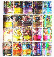 Wholesale trading cards wholesale - 2018 Poke Go Cards 60pcs Set 100pcs Set GX Mega Shine English XY cards+ Mega Ex Cards No repeat Pocket Monster Cards Kids Toys