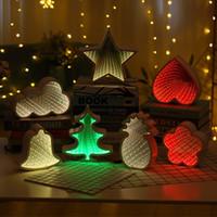 escritorio para dormitorio de niños al por mayor-Lámpara de pared 3D luz de la noche de la novedad creativa LED túnel piña decorativo estrella de la luna Nube de Flores iluminación del escritorio para el dormitorio del regalo del cabrito