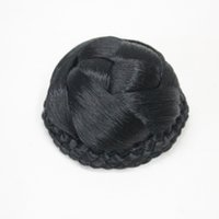 Wholesale braided bun hairpieces resale online - Hivision black Clip in Braided Synthetic Bun Dome Women s Hairpieces Donut Hair Cover