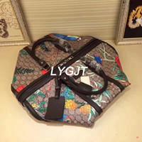 Wholesale Brown Leather Luggage - 2018 NEW Genuine Leather fashion men women travel bag duffle bag, brand designer luggage handbags large capacity sport bag 45CM