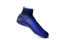 Wholesale Crampons Shoe Spikes - 2018 Kids soccer cleats mercurial superfly cr7 Quinto Triunfo V FG AG Crampons de football boots SX neymar soccer shoes mens Gold