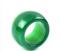 anéis de jade para mulheres verde venda por atacado-