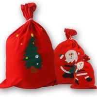 Wholesale gift factory stuff toys - Christmas Gift Bag Santa Backpack Christmas Decoration Candy Bag Factory Direct Non woven Gift Bag a variety of styles mixed YiWu