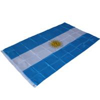 argentinien zuhause großhandel-90cm x 150cm Argentinien Nationalflagge / 3ftx5ft Argentina Football Fahnen Banner hängen Aktivität / Parade / Festival / Home Decor