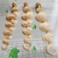 Wholesale cute human hair resale online - Cute Platinum Blonde Color Brazilian Body Wave Hair Weave Human Hair Weaving g Brazilian Virgin Hair Extension g