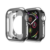 Wholesale ultra slim smart watch resale online - Ultra Thin Case TPU Plating Bumper Lightweight Shockproof Protector Plated Cover Slim Shell Frame for Apple Watch Series mm mm