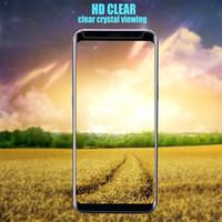 verres trempés samsung achat en gros de-S8 Plus 9 H 3D courbe pleine couverture verres trempés pour Samsung Galaxy S8 Plus protecteurs d'écran note 8 S7 téléphone portable protecteur d'écran