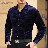 yang mode großhandel-Mu Yuan Yang Langarmhemd Männer Herbst Neue Modedesigner Hohe Qualität Hemd Slim Fit Business Shirts Mode Für Männer