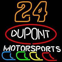 ingrosso motore a segno al neon-Dupont # 24 Motor Sports Custom Realizzato a mano Tubo di vetro Neon Sign Bar Club Store Sala giochi Display Neon Signs Free Design 20